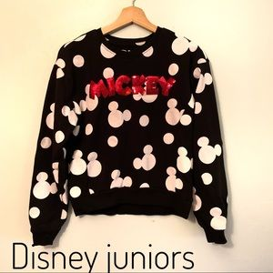 Juniors Disney Mickey Mouse long sleeve top